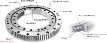 high precision kobelco hitachi excavator slewing ring bearing