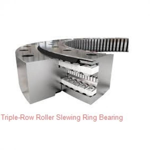 Double row ball slewing ring bearing for crawler crane, heavy loading equipment #1 image